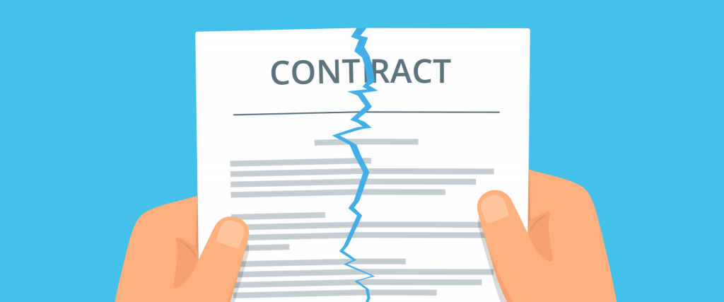 Image depicting the tearing up of a contract