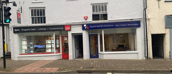 Butterworths Solicitors Kendal office front image